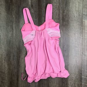 lululemon Pink Run Back On Track Tank Top Size 6